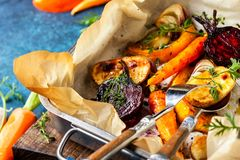 Oven Roasted vegetables Royalty Free Stock Photography