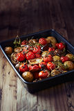 Oven-roasted vegetables Stock Images