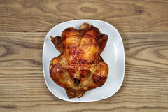 Oven Roasted Whole Chicken fresco Imagens de Stock