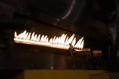 Oven of roaster with burning fire Stock Photography