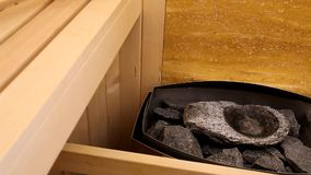 Oven in sauna stock video footage