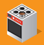 Oven Set 1 Royalty Free Stock Image