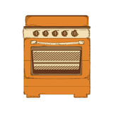 Oven stove icon image. Vector illustration design Stock Photography