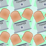 Oven toaster seamless background design Royalty Free Stock Photos