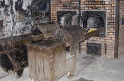 Oven voor verbranding in kamp Auschwitz - Birkenau royalty-vrije stock afbeelding