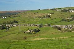 Ovenden and the wind farm Royalty Free Stock Images