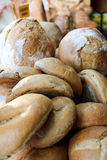Ovens and breads. Bakery Bread Concept and Decoration stock photos