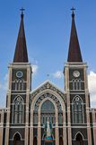 Over 100 years old church in easthern Thailand Royalty Free Stock Photo