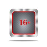 Over 16 button. Royalty Free Stock Photography