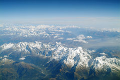 Over the Alps. Aerial view over the Alps Royalty Free Stock Image