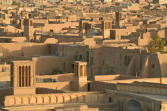 Over ancient city of Yazd Royalty Free Stock Photo