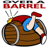 Over a Barrel. An image representing being over a barrel Royalty Free Stock Images