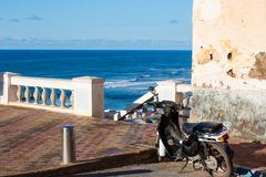 Over the beach of Sidi Ifni in Morocco Royalty Free Stock Image