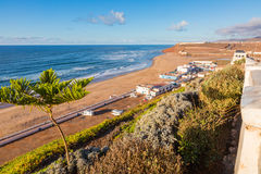 Over the beach of Sidi Ifni in Morocco Royalty Free Stock Photo