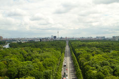 Over Berlin Royalty Free Stock Photos