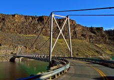 Over the Bridge. Bridge over the Crooked River - The Cove Palisades State Park near Culver, OR royalty free stock images