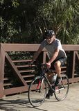 Over the bridge. Riding along the Legacy Trail,Nokomis Stock Photos
