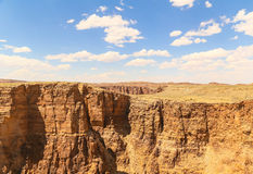 Over the Canyon. Looking over the Little Colorado River canyon to the other side. There are steep canyon walls. Another bend of the river can be seen in the Stock Images