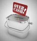 Over cash money box Royalty Free Stock Image