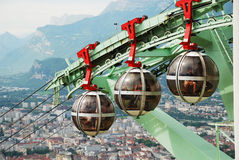 Over the city Grenoble. Royalty Free Stock Photo