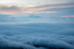 Over the cloud at dawn Stock Image