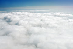 Over clouds stock photography