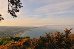Over the clouds. Bray, Ireland Royalty Free Stock Images