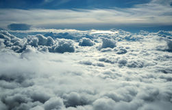 Over clouds Royalty Free Stock Photo