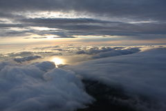 Over the clouds. Photo taken at the top of Pico Mountain over the clouds Royalty Free Stock Photos