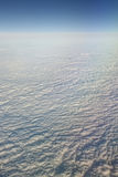 Over the clouds. Of Europe stock photography