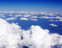 Over the clouds. In the sky Royalty Free Stock Images
