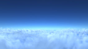 Over clouds, 3d render Stock Photos