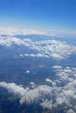 Over clouds Stock Images