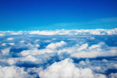 Over the clouds Stock Images