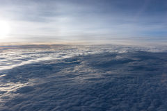 Over the clouds fantastic background Royalty Free Stock Image