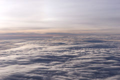 Over the clouds fantastic background Stock Images