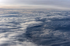 Over the clouds fantastic background Stock Image