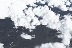 Over the clouds, high altitude Royalty Free Stock Photos