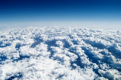 Over the clouds, high altitude Stock Photography