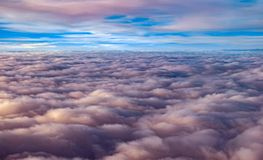 Over the clouds. From aiplane Stock Images