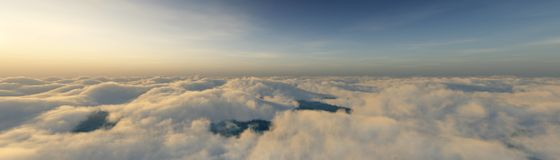 Over the clouds Royalty Free Stock Image