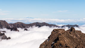 Over the clouds. Sea of clouds in La Palma, Canary islands Royalty Free Stock Photos