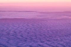 Over the clouds. Sky and clouds taken image form above while flying in a plane Stock Images