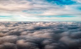 Over the clouds. View from airplane Stock Image