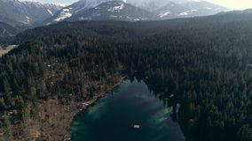 Over Crestasee Mountains Aerial 4k stock video