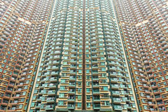 Over crowded apartment block Royalty Free Stock Images