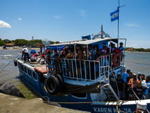 Over crowded passenger ferry to Ometepe Island Stock Photography
