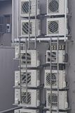 Over Crowding Aircons. A stack of over crowding air conditioners stock photography