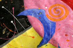 Over de Blauwe Maan royalty-vrije illustratie