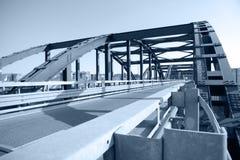 Over de brug Stock Foto's